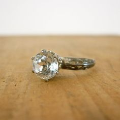 lovely little diamond ring for Lady Sybil-Not a fan of the circular cut but very pretty! Old Jewelry, Jewelery, Vintage Jewelry, Engagement Sets, Solitaire Engagement, Diy Jewelry Projects, Costume Rings, Art Deco Ring, Diamond Are A Girls Best Friend