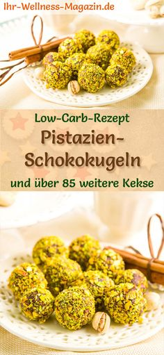 Low Carb Pistachio Chocolate Balls Simple Cookie Recipe for Christmas Biscuits Low Carb Plätzchen Vegetarian Meals For Kids, Vegetarian Recipes Easy, Low Carb Recipes, Healthy Recipes, Pistachio Recipes, Christmas Biscuits, Christmas Snacks, Kids Christmas, Easy Cookie Recipes