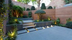 10 Magnificent Tips: Backyard Garden Design Modern stone garden ideas concrete pavers.When To Plant Vegetable Garden small backyard garden plan. Backyard Garden Design, Garden Landscape Design, Small Garden Design, Terrace Garden, Backyard Patio, Backyard Landscaping, Sunken Garden, Garden Pond, Garden Grass