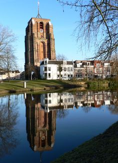 Prinsetuin met Oldehove in Leeuwarden [the Netherlands]