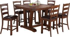 New Classic Lanesboro Counter Table & 6 Stools | Homemakers Furniture