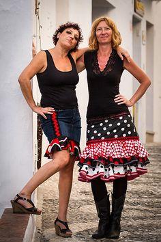 Urban Flamenco Medium Length Skirt by MadeinFrigiliana on Etsy, €165.00