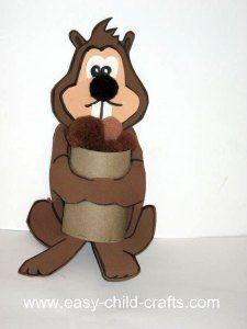 Cardboard Tube Squirrel Craft