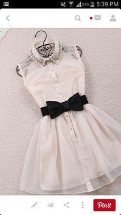 vestir perlas arco negro adorable corto