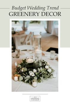 Greenery wedding decor is easy way to add nature and style to your reception. Greenery is a wonderful alternative to florals that will give a lush look. Wedding Balloon Decorations, Wedding Balloons, Table Decorations, Wedding Table Deco, Greenery Decor, Ethnic Home Decor, Budget Wedding, Wedding Trends, Lush