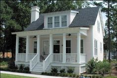 COOL house plans offers a unique variety of professionally designed home plans with floor plans by accredited home designers. Styles include country house plans, colonial, Victorian, European, and ranch. Blueprints for small to luxury home styles. Small Cottage House Plans, Small Cottage Homes, Cottage Floor Plans, Southern House Plans, Small Cottages, Family House Plans, Best House Plans, Bedroom House Plans, Country House Plans