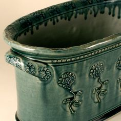 Fabulous. Open casserole form. Flower pot.