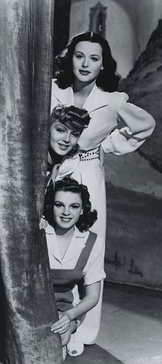 Hedy Lamarr, Lana Turner and Judy Garland - Zigfield Girl (1941)