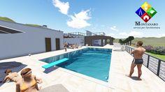 Progettazione villa con piscina