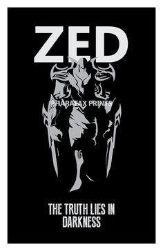 Zed League of Legends Print by pharafax on Etsy, $16.00