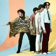 The Monkees (1966-68). Mickey Dolenz, Davy Jones, Peter Tork and Mike Nesmith. The crazed antics on the show took a lot of production and a lot of down time for the actors on set. During this free time, they picked up the instruments allocated to them and learned hot to play them.