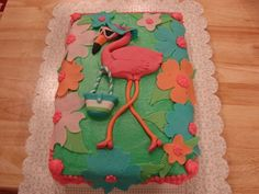 pink flamingo cake - i so want this for my birthday!!!