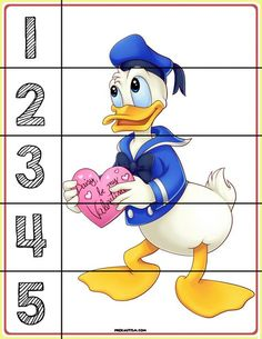 FREE! Printable Mickey & Friends Number Puzzles - Autism & Education Autism Activities, Infant Activities, Kindergarten Activities, Writing Activities, Activities For Kids, Numbers Preschool, Free Preschool, Preschool Worksheets, Number Puzzles