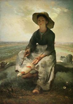 Jean-Francois Millet- La joven pastora (1870). Museum of fine arts, Boston
