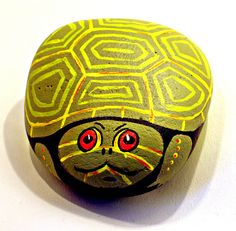 Mr Turtle Rock hand painted by getarock on Etsy, $17.00