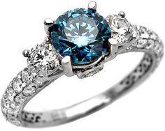 Gorgeous blue diamond ring!