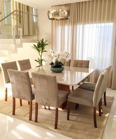 Contemporary Dining Room Ideas to Inspire You Dining Room Design contemporary Dining Ideas Inspire Room Dining Room Table Decor, Dining Room Design, Living Room Decor, Dining Chairs, Dining Area, Marble Dinning Table, Square Dining Room Table, Kitchen Dining, Kitchen Rustic
