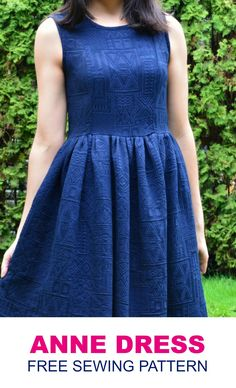 FREE SEWING PATTERN: Anne Dress . Learn how to make an easy princess seams dress with this FREE PDF sewing pattern and sewing tutorial