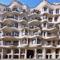 "Casa Mila (""La Pedrera"") / Barcelona / Spain by Antoni Gaudi Barcelona Architecture, Spanish Architecture, Organic Architecture, Beautiful Architecture, Architecture Details, Landscape Architecture, Unusual Buildings, Great Buildings And Structures, Amazing Buildings"