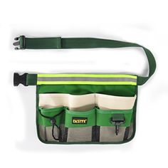 FASITE 7POCKET Gardening Tools Belt Bags Garden Waist Bag Hanging Pouch with Reflective Strap * For more information, visit image link.