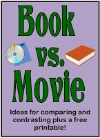 Watching a movie after reading the book is a wonderful way to encourage students to think critically about how each medium presented roughly the same information. Here are some questions to ask: Think about the setting of the book. Did the setting in the movie look like you had imagined it (Good ones for this are Harry Potter, Holes, Narnia, and Where the Wild Things