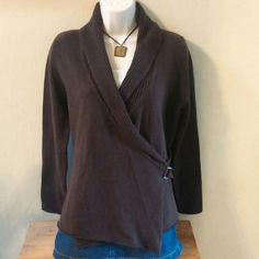 Wrap sweater Made in Italy.  This sweater can be dressed up or down.  Very flattering. Sweaters