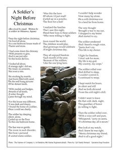 A Soldier's Night Before Christmas.