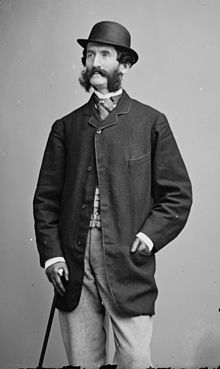Richard Grant White (1822-1885) photographed by MATHEW BRADY. Drama and music critic, author, authority on Shakespeare and father of architect STANFORD WHITE.