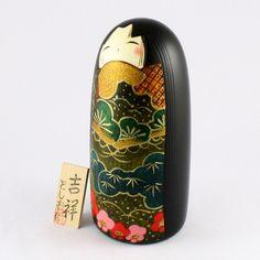 Kokeshi Doll Kissyo (k12-3872) Original Title : Kissyo (Meaning : Omen of good thing) Material : Wood(Mizuki) Origin : Japan W10.5 x D10.5 x H22.5 cm check more kyoohoo products