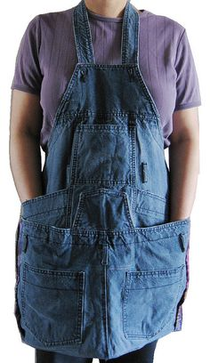 apron made from overalls