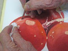watercolor Steps - Tomato