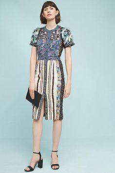 5c037ecf Beguile By Byron Lars Lavenia Sheath Dress Embellished Dress, Brocade  Dresses, Jacquard Dress,