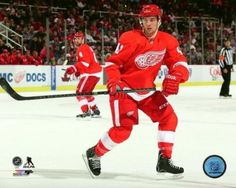 123f9992593 Luke Glendening 2013-14 Action Photo Print (20 x 24). Luke GlendeningRed  Wings HockeyDetroit ...