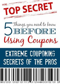 Have you ever wondered how Extreme Couponing Works? Each day we show you How to Use Coupons to Save Money but there are a few things you need to know before you start! Here are 5 things you need to know BEFORE you start using coupons to save money! How To Start Couponing, Couponing For Beginners, Couponing 101, Extreme Couponing, Save Money On Groceries, Ways To Save Money, Money Tips, Money Saving Tips, Money Savers
