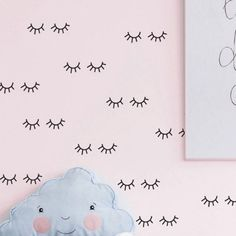 Cute eyelash pattern Wall decal removable Vinyl Wall Stickers For Kids Room Lovely Sleepy Eyes Baby Nursery Wall Art Home Decor Wall Stickers Girl Bedroom, Kids Room Wall Decals, Nursery Wall Stickers, Vinyl Wall Stickers, Nursery Wall Art, Window Stickers, Sleepy Eyes, Flower Wall Decor, Wall Patterns