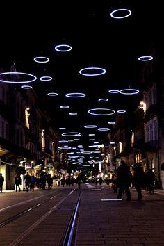 Christmas lights in Bordeaux Bordeaux France, Chateau Bordeaux, Fire Pit Gallery, Anne Laure, Decorating With Christmas Lights, Belle Villa, Jolie Photo, Aquitaine, Light Installation