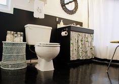 desire to inspire - desiretoinspire.net - Kim's temporary bathroom redo