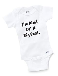 Kind Of A Big Deal Onesie Baby Clothing Shower Gift Nerd Geek Funny Cute Toddler #Varies #OnePieces