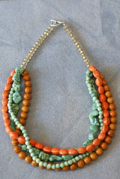 DIY Statement Necklace Tutorial - This is great. I am definitely going to try this myself!