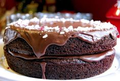Peppermint Flourless Chocolate Cake revised