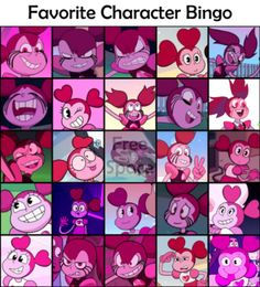 Hey guys here's my favorite character bingo sheet it was hard narrowing it down to just 25 characters but I think I got a good representation of me Steven Universe Theories, Steven Universe Movie, Universe Art, Bingo Sheets, Steven Universe Wallpaper, Little Misfortune, Cartoon Fan, Anime, Fan Art