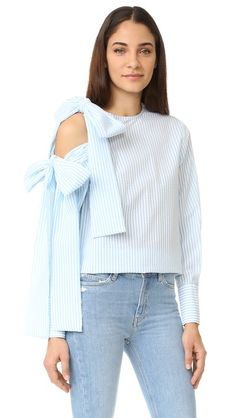 What we're shopping during the Shopbop Sale: MSGM Seersucker Open Shoulder Tie Blouse