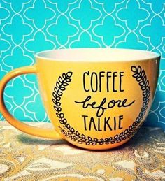 Coffee before Talkie ;)☕