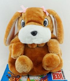 READY TO SHIP Dog Backpacks for Girls-Brown Animal Plush Toys for Baby Girls | Rudelyn's Sari Sari Store