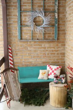 Primitive & Proper: Blogger Stylin' Home Tour: A Rustic, Natural, and Glimmering Christmas