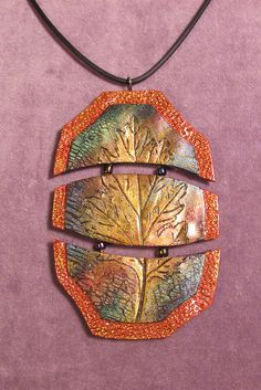 Faux raku with real leaf imprint -  #Polymer #Clay #Tutorials