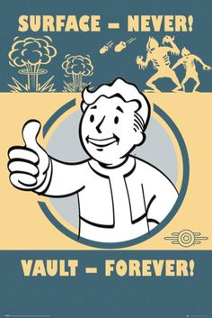 Fallout 4 Vault Forever - Official Poster