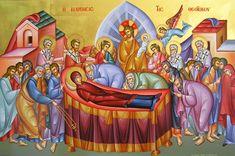 ΚΑΛΗ ΠΑΝΑΓΙΑ: Ευχή για τη μεγάλη γιορτή της Ορθοδοξίας-15 Αυγούστου Byzantine Icons, Byzantine Art, Catholic Art, Mother Mary, Virgin Mary, Saints, Religion, Scene, Painting