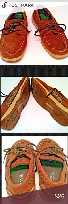f5fb91619af1 Sperry Top Sider Boys Brown Leather Loafers