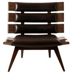 Mercedes Top Grain/Solid Mahogany Chair
